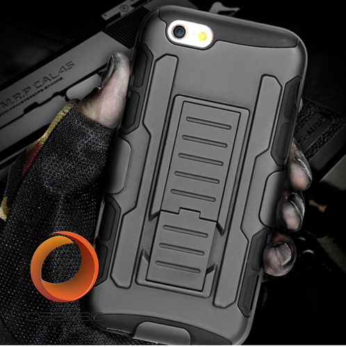 forro  iphone 4 4s 6 6s 6 plus defender doble con clip