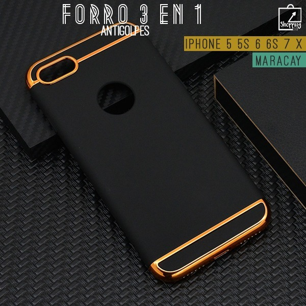 328fc5e28f6 Forro Iphone 5 5s 5se 6 6s 7 8 X Antigolpes 3 En 1 Elegantes - Bs. 349,80  en Mercado Libre