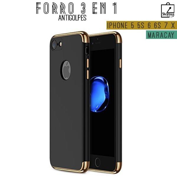 6034ea30c79 Forro Iphone 5 5s 5se 6 6s 7 8 X Antigolpes 3 En 1 Elegantes - Bs ...