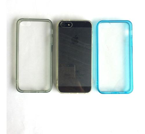 forro iphone 5/5s acrilico duro con borde de color