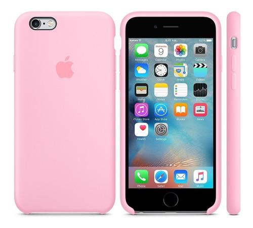 forro iphone 6 6s 6 plus 7 8 rosado estuche silicone case