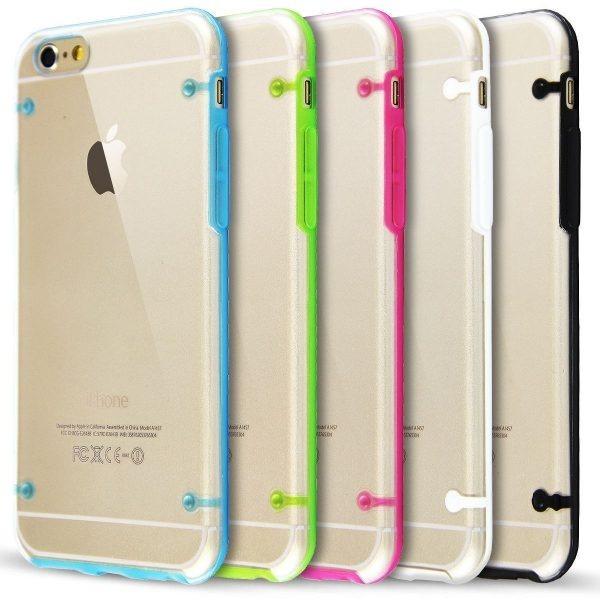 1d82ef7a717 Forro iPhone 6 / Acrílico Transparente Con Bordes De Colores - Bs ...