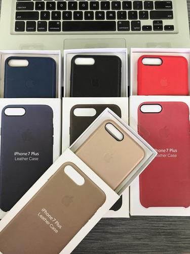 forro iphone 7 plus y iphone 8 plus apple case de cuero