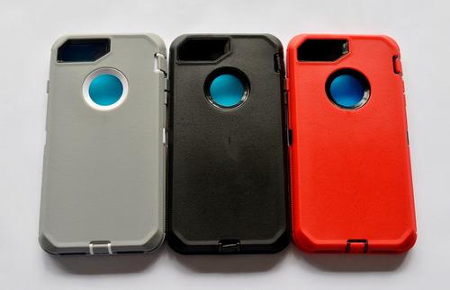 forro iphone 8 plus grueso con protector de pantalla