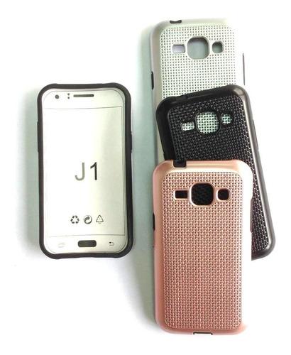 forro j1 / j3/ (j5 2015) samsung plastico tipo malla