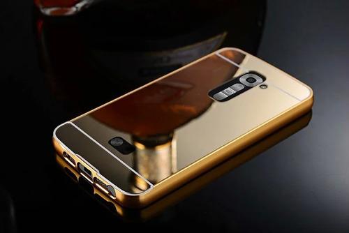 forro lujo aluminio espejo lg g2 g3 g4 stylus k7 k8 k10