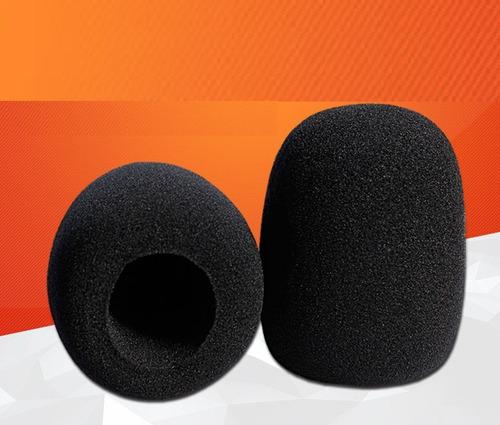 forro para microfono excelente color negro por 5 unidades