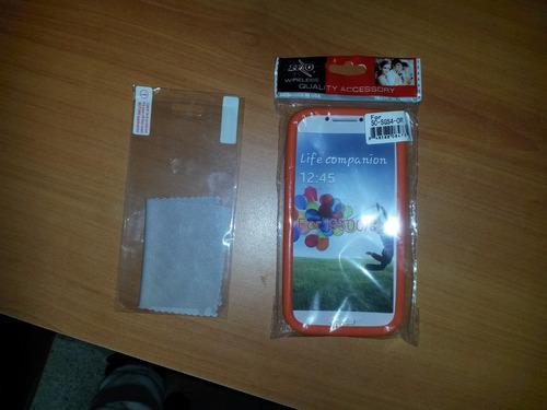 forro para samsung s4 i9500 +protector de pantalla