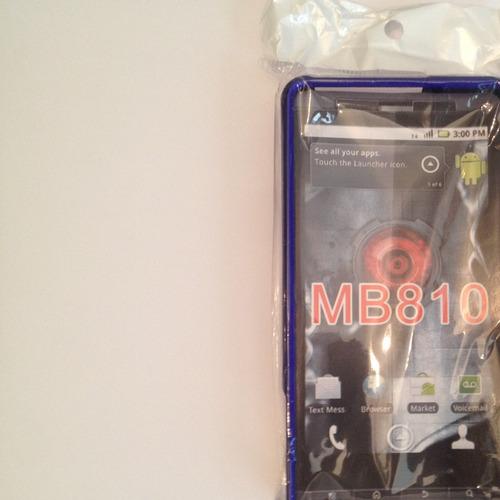 forro plastico motorola mb810