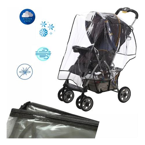 forro plastico protector de lluvia coche para bebe negro