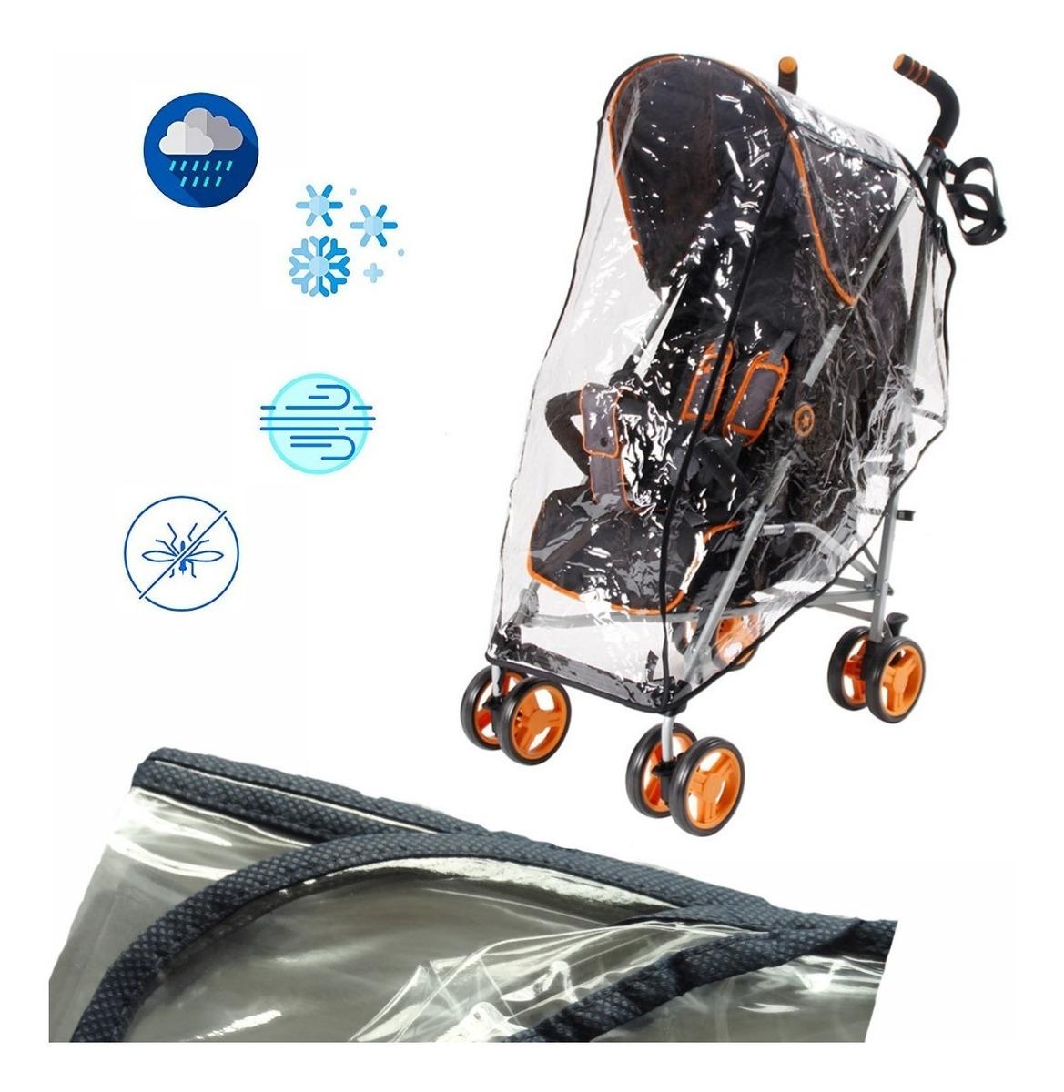 3e7ba9e04 forro plastico protector de lluvia paseador para bebe negro. Cargando zoom.