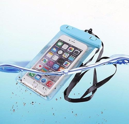 forro protector bolsa para celulares sumergible agua colors