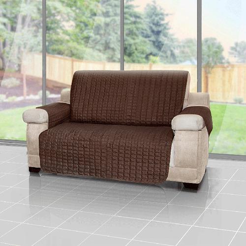 forro protector de sofá reversible café 3puestos energy plus