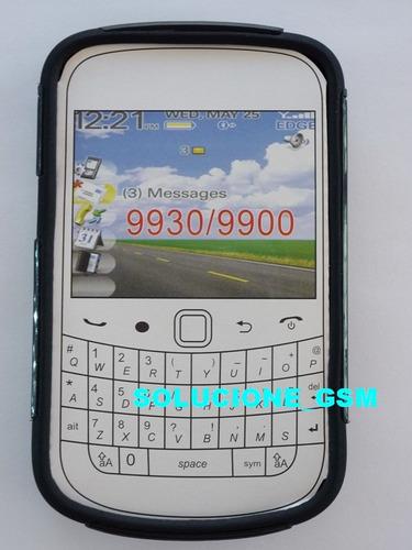 forro, protector doble blackberry 9900 9930 bold negro