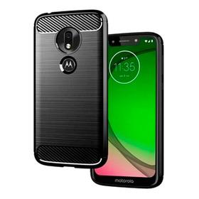 Forro Protector Fibra Carbono Para Motorola Moto G7 Play