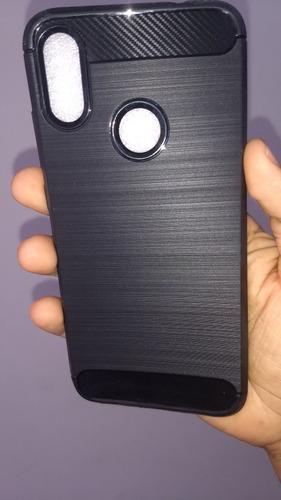 forro protector fibra carbono para xiaomi redmi note 7