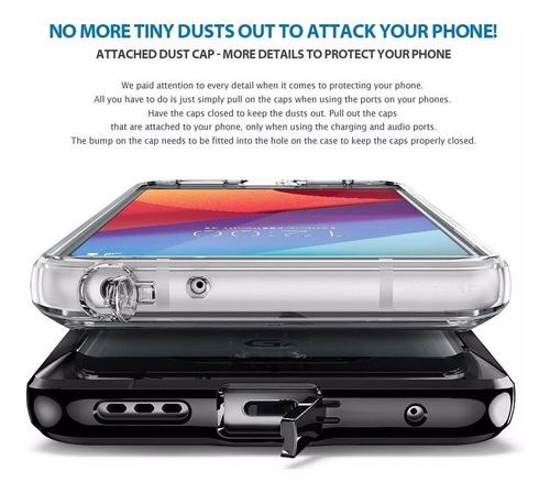 forro protector ringke fusion clear lg g6 antishock h871