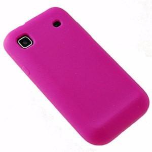 forro protector samsung s i9000 goma silicone negro y rosa