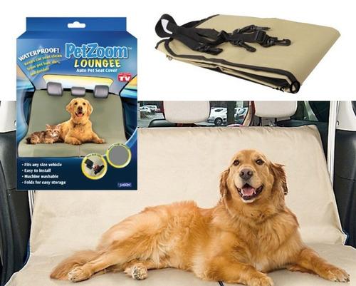 forro protector silla carro mascotas petzoom + guante pelos