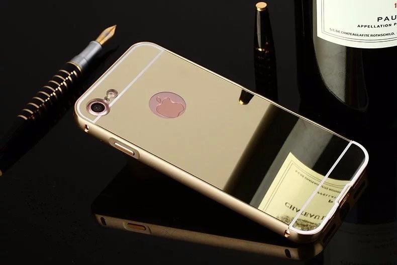 a57584e258c Forro Protector Tipo Espejo Aluminio Apple iPhone 7 Dorado - Bs ...