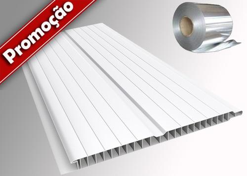 forro pvc frisado branco com isolante termico (termo forro)