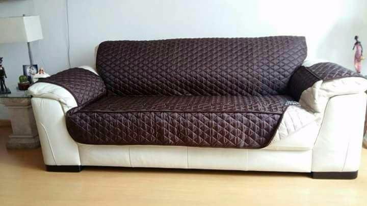 Forro reversible parajuego completo de muebles de sala 3 2 for Forros para sillones