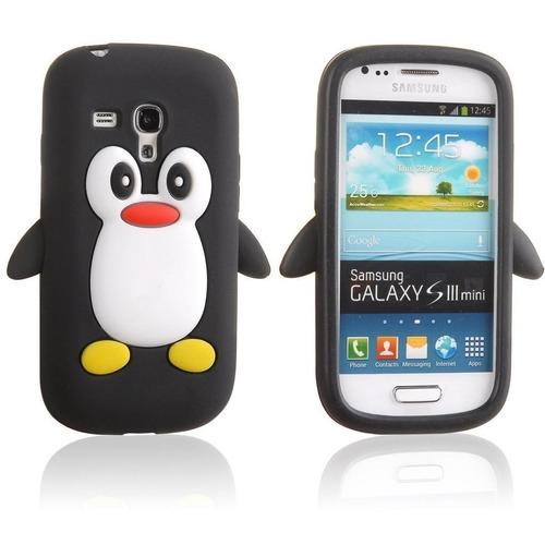 forro s3mini pinguino silicone 3d i8190 nuevos