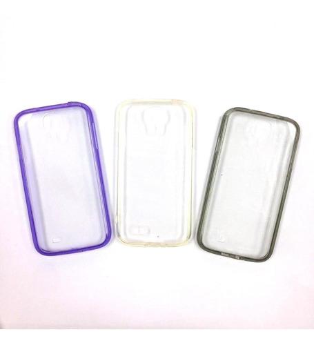 forro s4 i9500 samsung acrilico duro borde de color