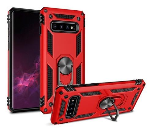 forro samsung galaxy s10 plus soporte metal aro hibrido case
