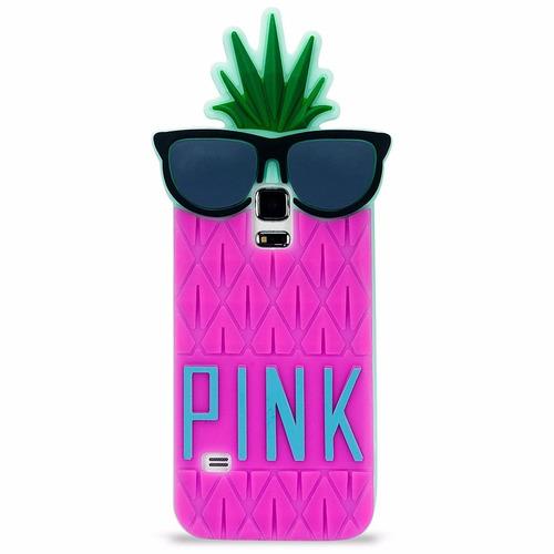 forro samsung s5 mini piña pink