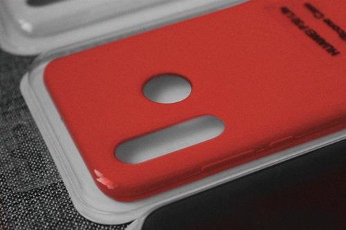 forro silicon case p30 lite funda estuche + vidrio 10d