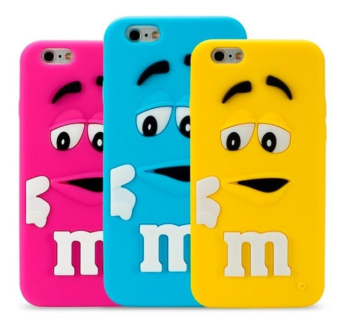 forro silicon m&m iphone 6 y 6 plus