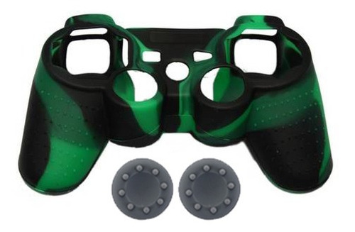 forro silicona camuflado grips gratis control sony ps3 promo