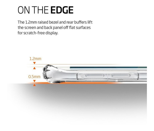 forro spigen samsung s6 edge plus ultra hybrid crystal clear