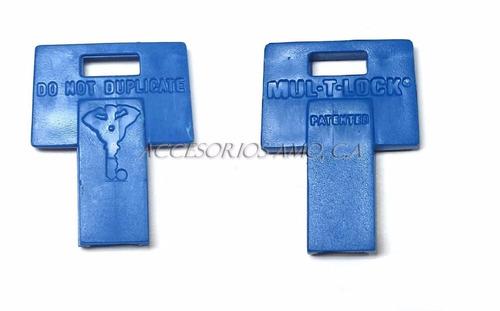forro, tapa, soporte plastico, para llave mul-t-lock