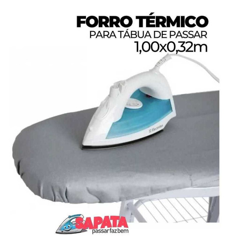 forro térmico para tábua de passar almofadado 1,00m x 0,32m