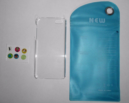 forro tipo case transp cristal iphone 5/ cod 1706064