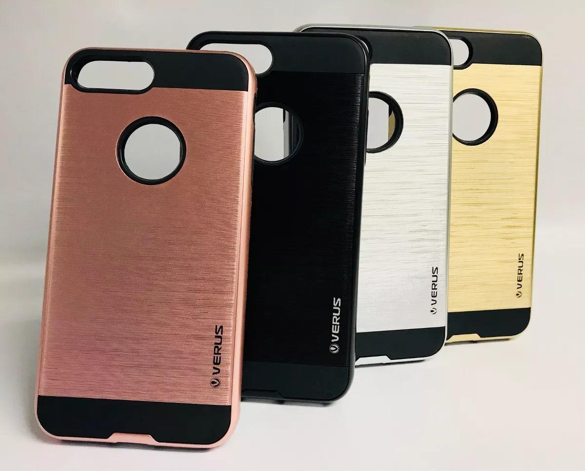best service ca196 bfb43 Forro Verus iPhone 7 Plus + Mas Vidrio Templado Combo