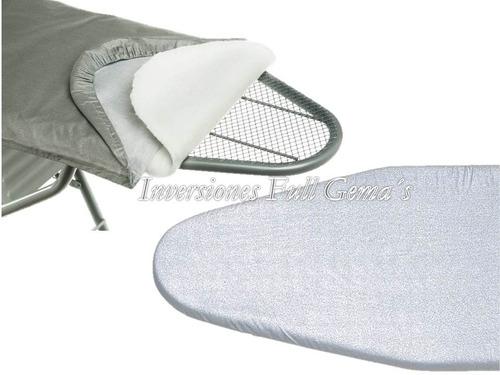 forro/funda para mesa de planchar acolchado 100% algodon