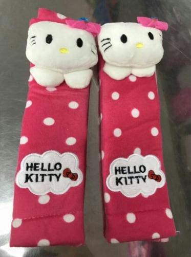 forros cinturon de seguridad carro hello kitty