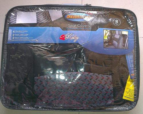 forros cubre asientos universal  negro con gris juego comple
