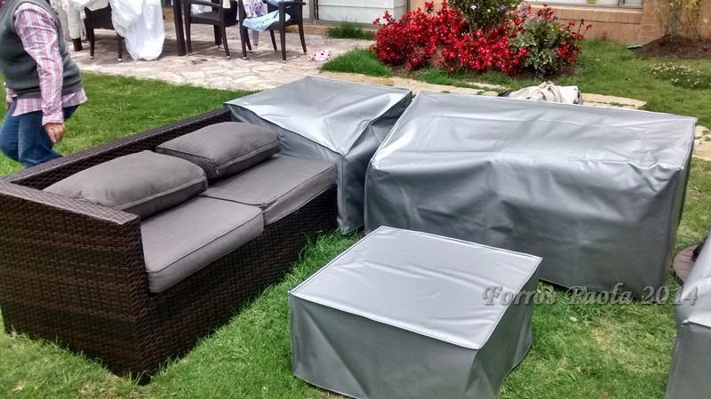Forros fundas impermeables muebles exterior terraza jardin for Fundas muebles terraza