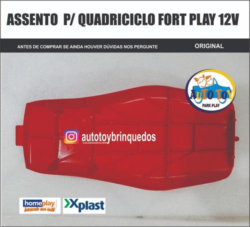 fort play 12v - x-plast - só o assento vermelho original