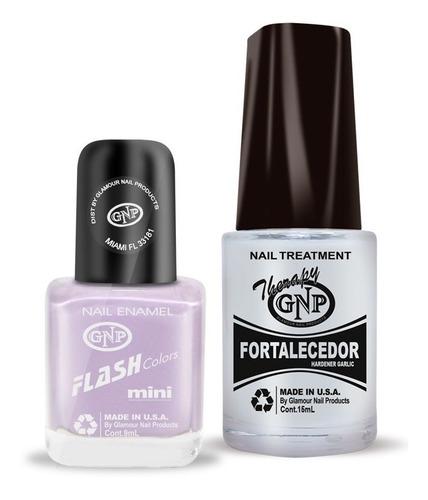 fortalecedor de ajo y esmalte gnp 9ml nro.1 color lila