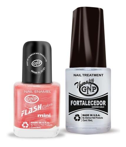 fortalecedor de ajo y esmalte gnp 9ml nro.24 rosa nacar