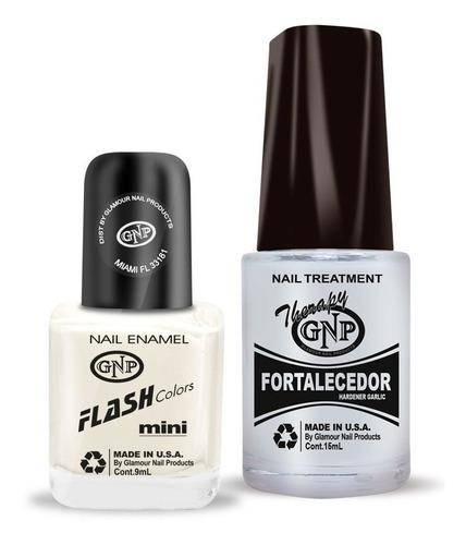 fortalecedor de ajo y esmalte gnp 9ml nro.31 blanco french p