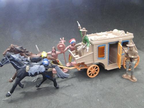 forte apache diligencia carroça indio cowboy carruagem