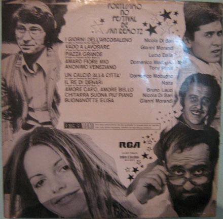fortissimo no festival de san remo 72 - seleção - 1972