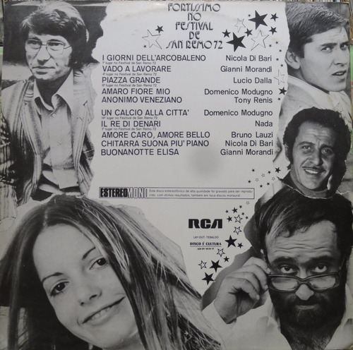 fortíssimo no festival san remo  lp rca victor 1972 stereo
