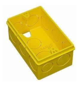 fortlev caixa luz 4x2 plastica amarela - pacote c/20 unid